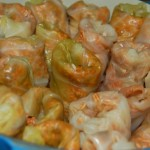 Set the cabbage rolls in a pot