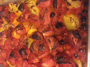 Tomatoes out of the oven